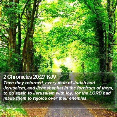 2 Chronicles 20:27 KJV Bible Verse Image