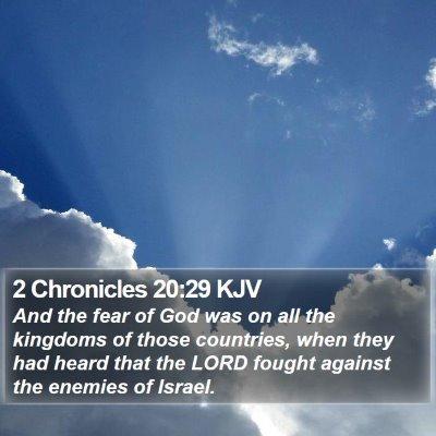 2 Chronicles 20:29 KJV Bible Verse Image