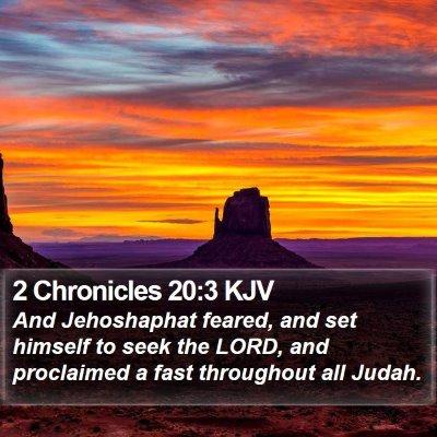 2 Chronicles 20:3 KJV Bible Verse Image