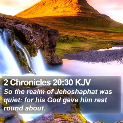 2 Chronicles 20:30 KJV Bible Verse Image