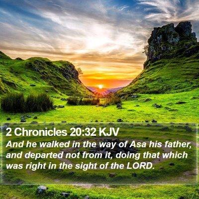 2 Chronicles 20:32 KJV Bible Verse Image