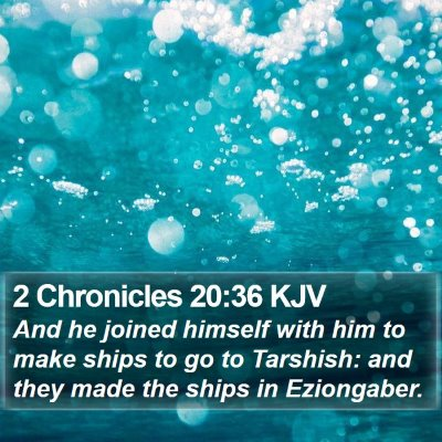 2 Chronicles 20:36 KJV Bible Verse Image