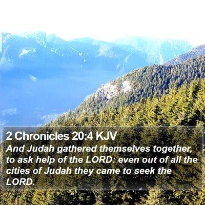 2 Chronicles 20:4 KJV Bible Verse Image