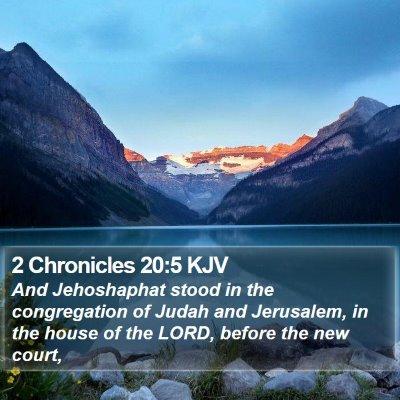 2 Chronicles 20:5 KJV Bible Verse Image