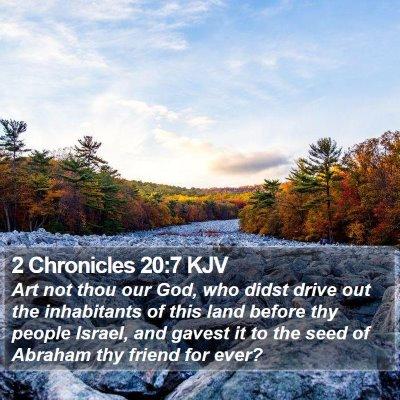 2 Chronicles 20:7 KJV Bible Verse Image