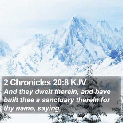 2 Chronicles 20:8 KJV Bible Verse Image