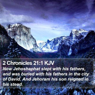 2 Chronicles 21:1 KJV Bible Verse Image