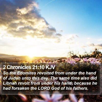 2 Chronicles 21:10 KJV Bible Verse Image