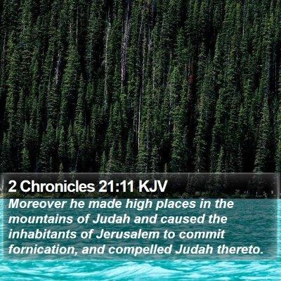 2 Chronicles 21:11 KJV Bible Verse Image