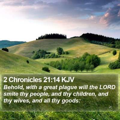 2 Chronicles 21:14 KJV Bible Verse Image