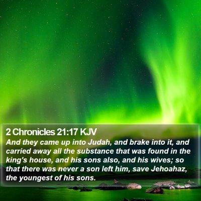 2 Chronicles 21:17 KJV Bible Verse Image