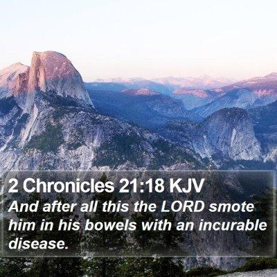 2 Chronicles 21:18 KJV Bible Verse Image