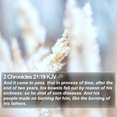 2 Chronicles 21:19 KJV Bible Verse Image
