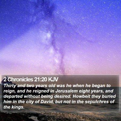 2 Chronicles 21:20 KJV Bible Verse Image