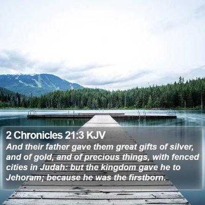 2 Chronicles 21:3 KJV Bible Verse Image