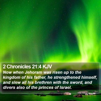 2 Chronicles 21:4 KJV Bible Verse Image
