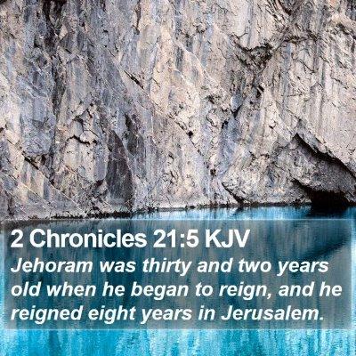 2 Chronicles 21:5 KJV Bible Verse Image