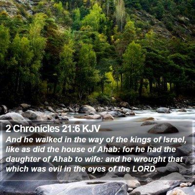 2 Chronicles 21:6 KJV Bible Verse Image