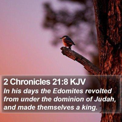 2 Chronicles 21:8 KJV Bible Verse Image