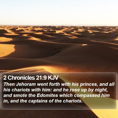 2 Chronicles 21:9 KJV Bible Verse Image