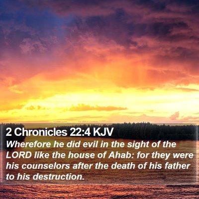 2 Chronicles 22:4 KJV Bible Verse Image