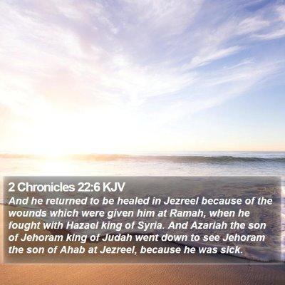 2 Chronicles 22:6 KJV Bible Verse Image