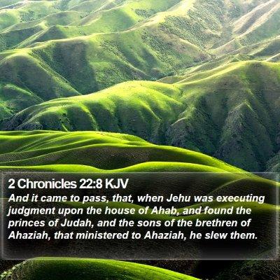 2 Chronicles 22:8 KJV Bible Verse Image