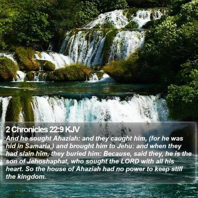 2 Chronicles 22:9 KJV Bible Verse Image