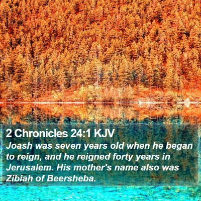 2 Chronicles 24:1 KJV Bible Verse Image