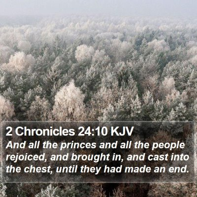 2 Chronicles 24:10 KJV Bible Verse Image