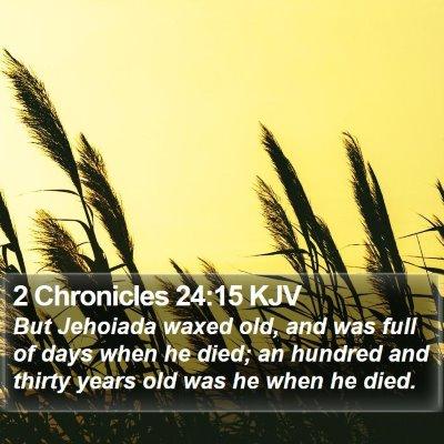 2 Chronicles 24:15 KJV Bible Verse Image