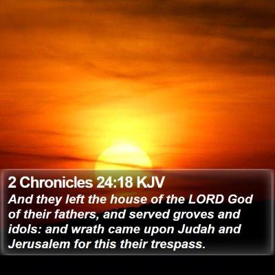 2 Chronicles 24:18 KJV Bible Verse Image