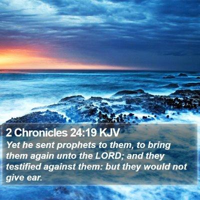 2 Chronicles 24:19 KJV Bible Verse Image