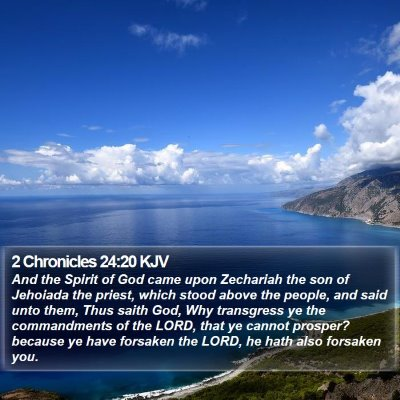 2 Chronicles 24:20 KJV Bible Verse Image