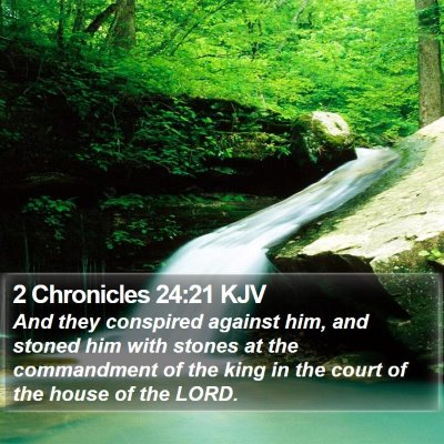 2 Chronicles 24:21 KJV Bible Verse Image
