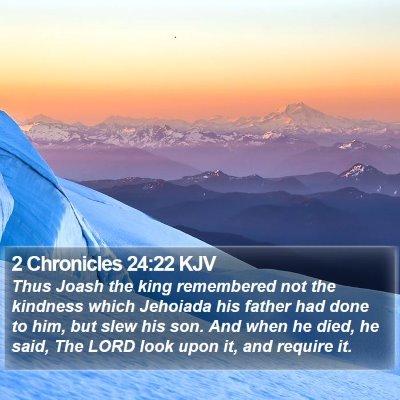 2 Chronicles 24:22 KJV Bible Verse Image