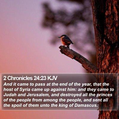 2 Chronicles 24:23 KJV Bible Verse Image