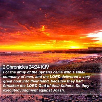2 Chronicles 24:24 KJV Bible Verse Image