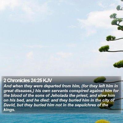 2 Chronicles 24:25 KJV Bible Verse Image