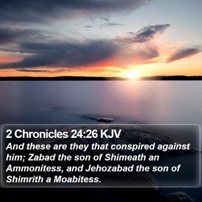 2 Chronicles 24:26 KJV Bible Verse Image