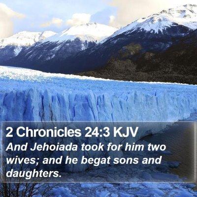 2 Chronicles 24:3 KJV Bible Verse Image