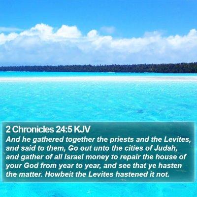 2 Chronicles 24:5 KJV Bible Verse Image
