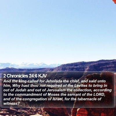 2 Chronicles 24:6 KJV Bible Verse Image