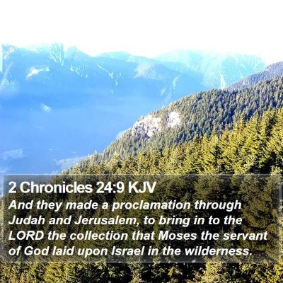2 Chronicles 24:9 KJV Bible Verse Image