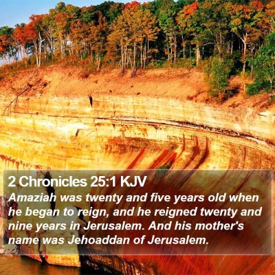 2 Chronicles 25:1 KJV Bible Verse Image