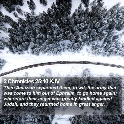 2 Chronicles 25:10 KJV Bible Verse Image