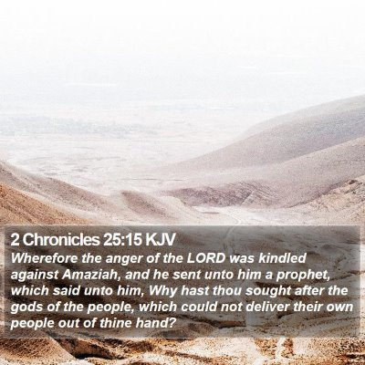 2 Chronicles 25:15 KJV Bible Verse Image