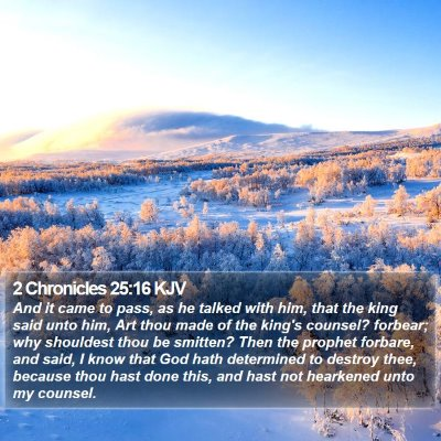 2 Chronicles 25:16 KJV Bible Verse Image