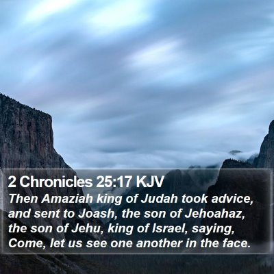 2 Chronicles 25:17 KJV Bible Verse Image