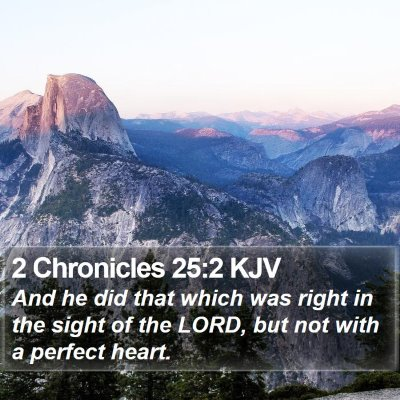 2 Chronicles 25:2 KJV Bible Verse Image